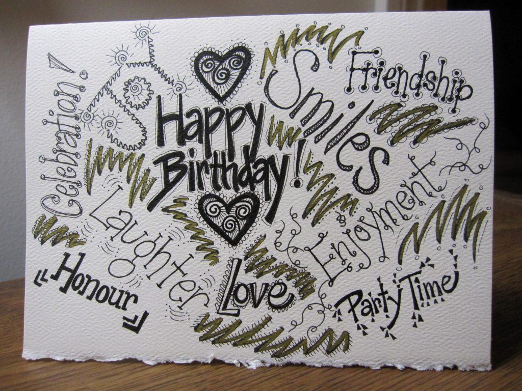 1024x768 12 New Happy Birthday Card Drawing