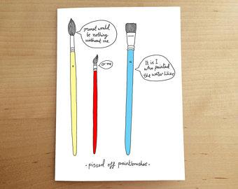 340x270 Artist Birthday Card Etsy