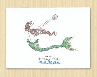 340x270 Shell Birthday Card Etsy