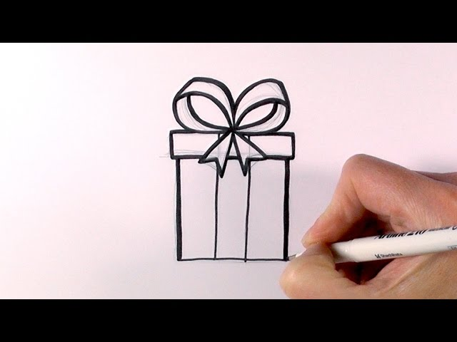 640x480 How To Draw A Christmas Present