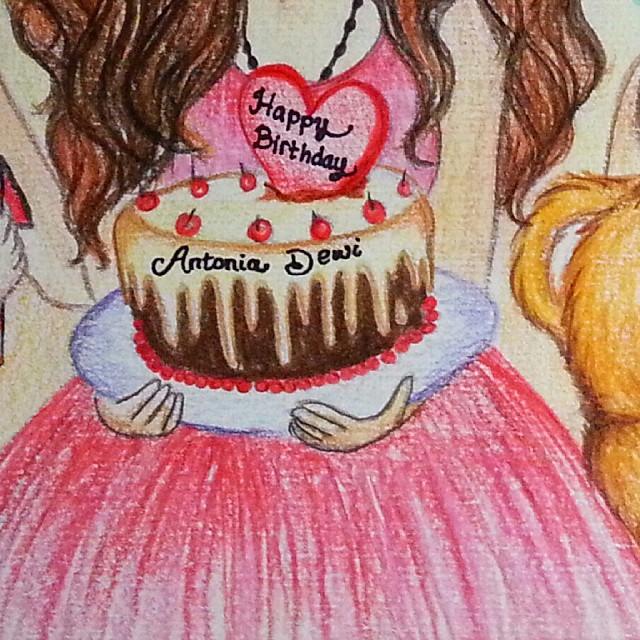 640x640 Birthday Girl Drawing Best Happy Birthday Wishes
