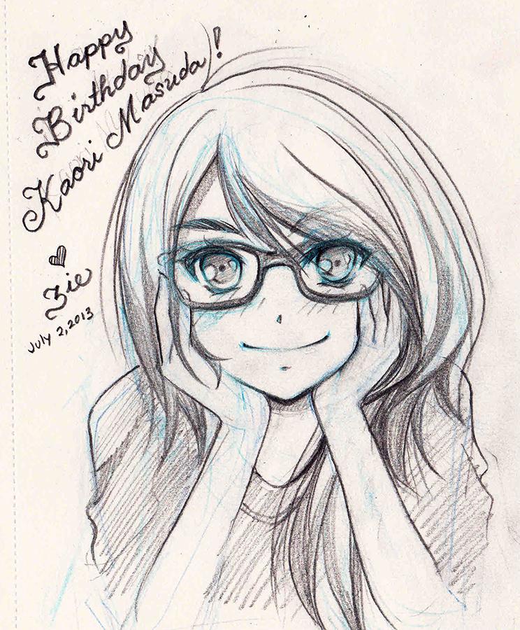 744x900 Happy Birthday Kaori By Zienta