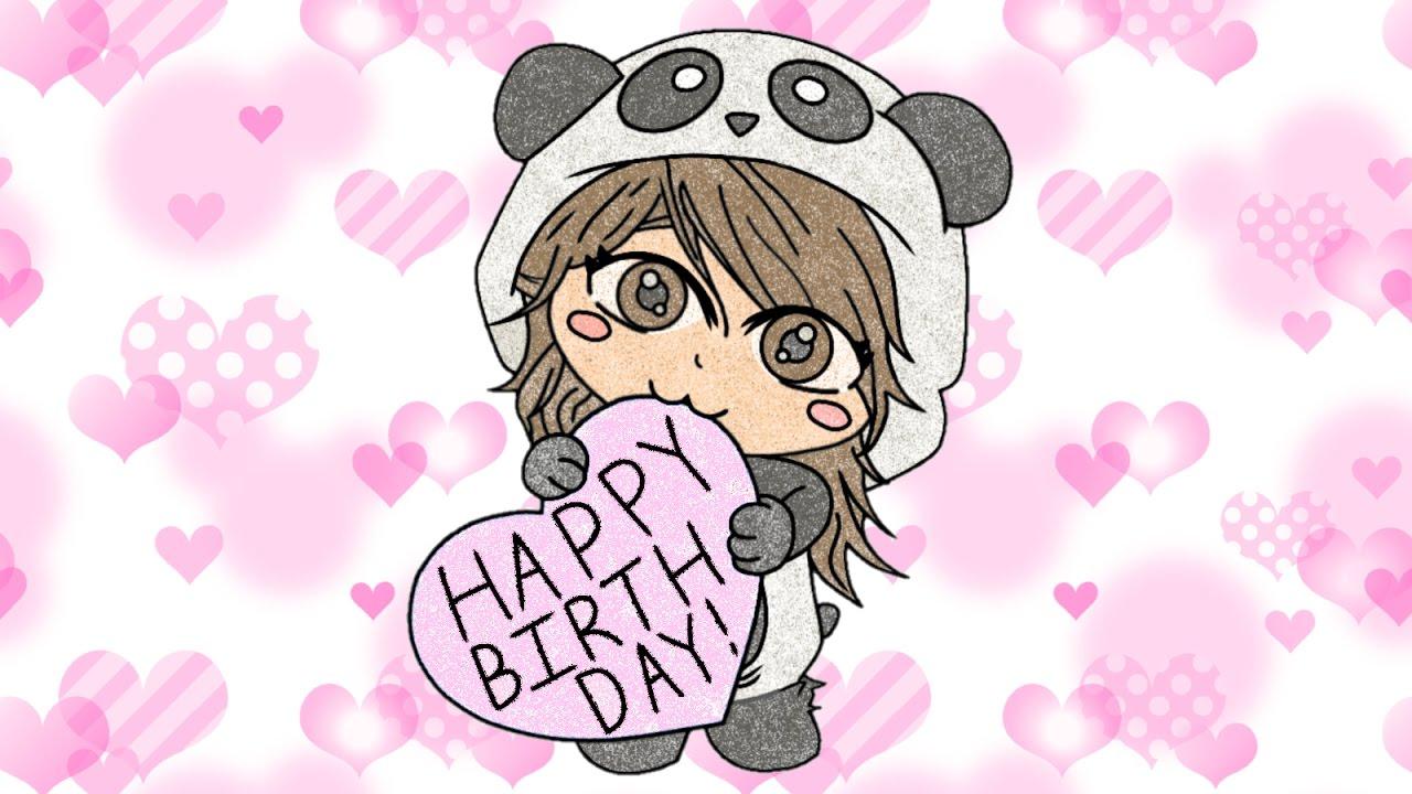 1280x720 Ibispaint Birthday Chibi Panda Girl Drawing