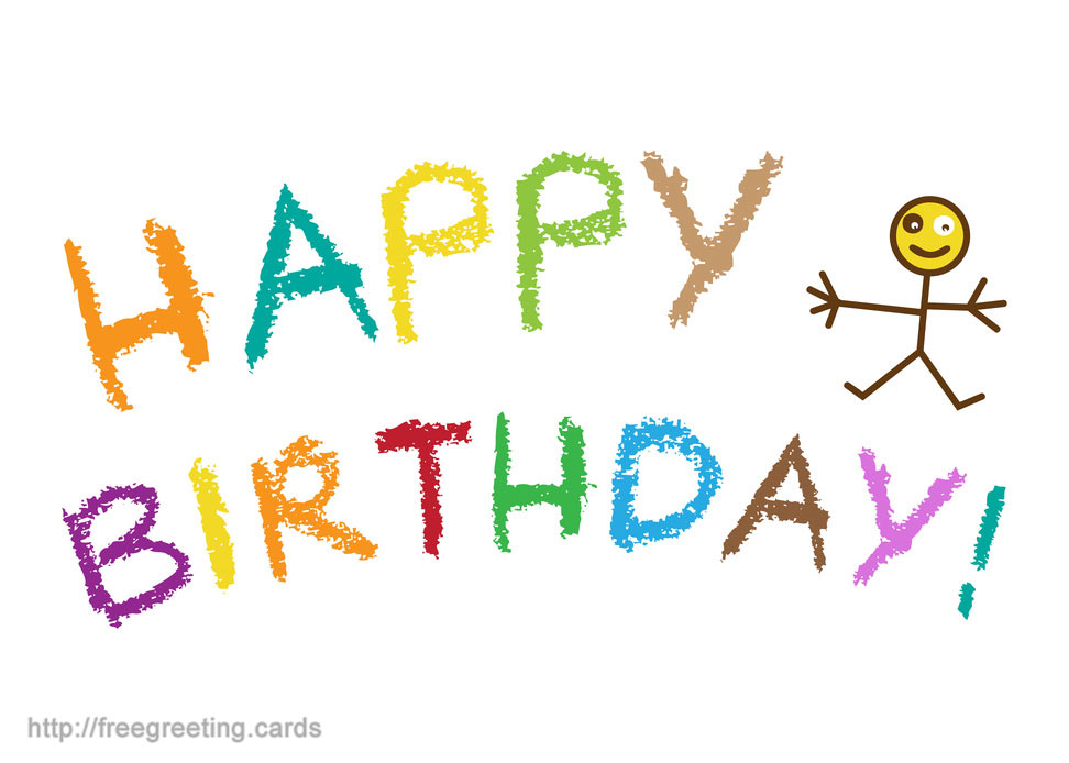 972x694 Birthday Greeting Card Kids Drawing Freegreeting.cards