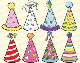 340x270 Doodles Party Hats