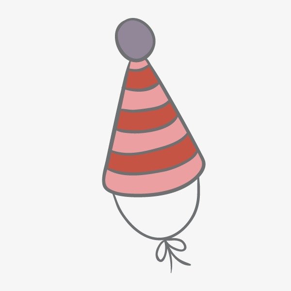 600x600 Hand Drawn Cute Birthday Birthday Hat, Hat, Hand Painted, Lovely