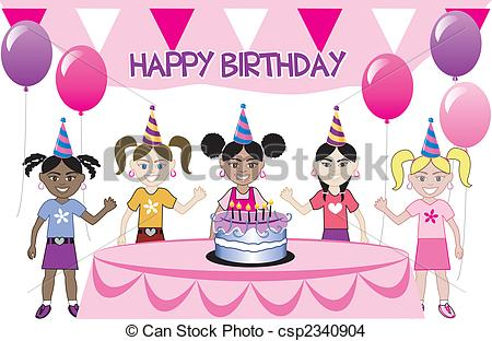 450x312 Birthday Drawing For Kids Kids Party 3 A Girls Birthday Party