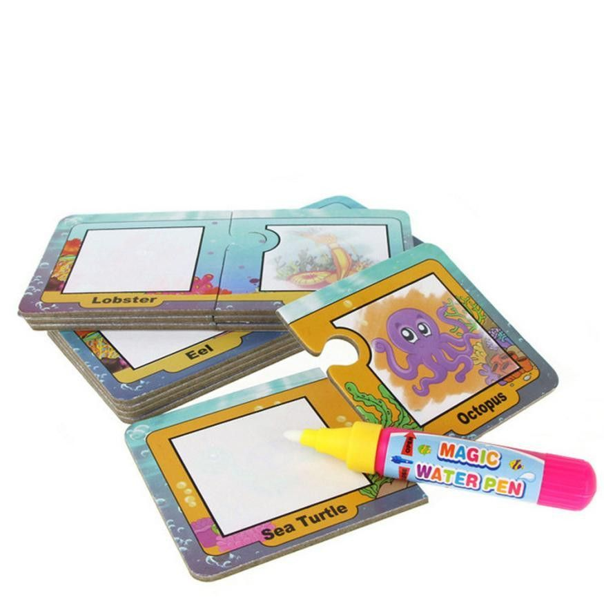 875x875 Children Educational Toys Water Draw Card Drawing Board Graffiti