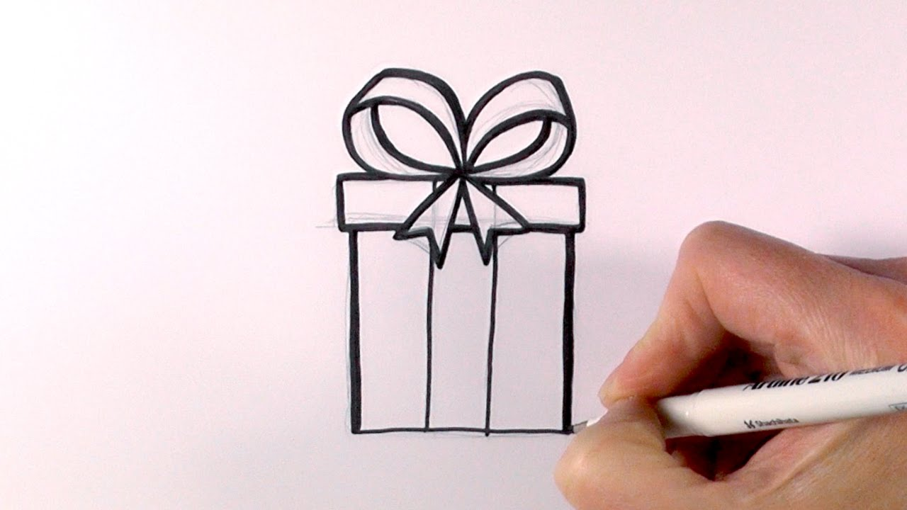 1280x720 How To Draw A Christmas Present