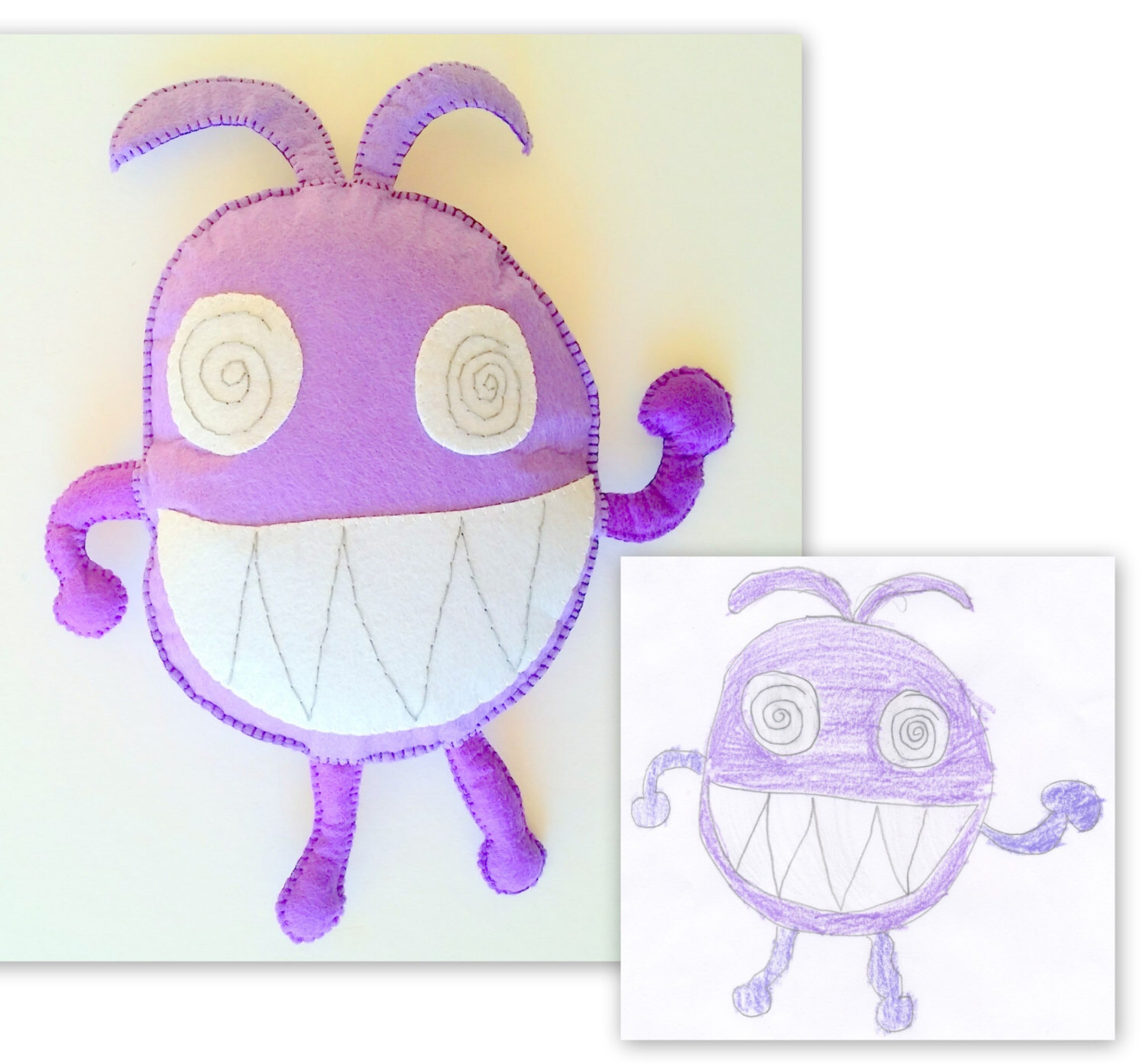 1500x1393 Personalized Gift Toy Monster, Plush Kids Drawing, Doll