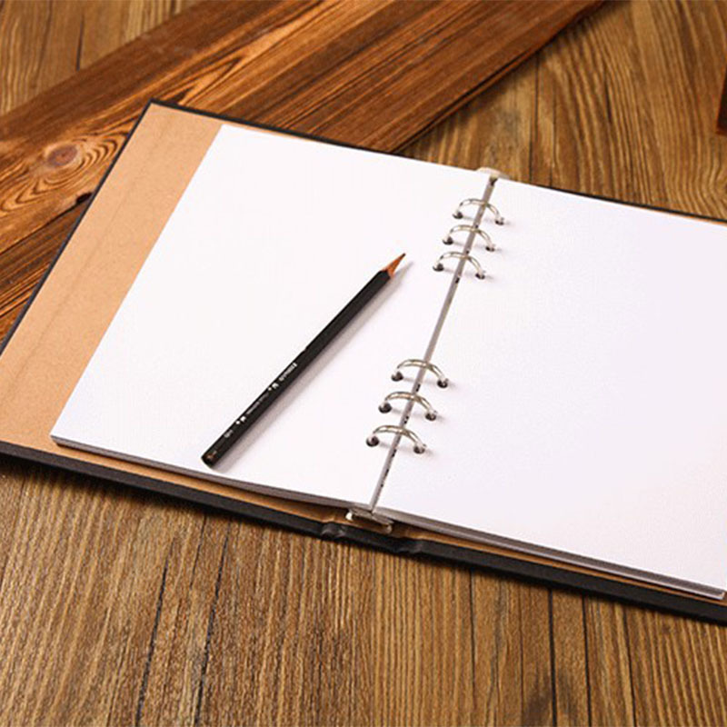 800x800 A5 Blank Spiral Notebook Paper 80 Sheets Sketchbook Diary Drawing