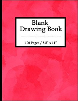 260x336 Blank Drawing Book 100 Pages, 8.5 X 11 Large Sketchbook Journal