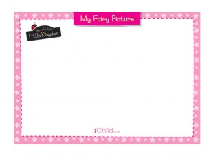 310x227 Fairy Picture Blank Drawing Template