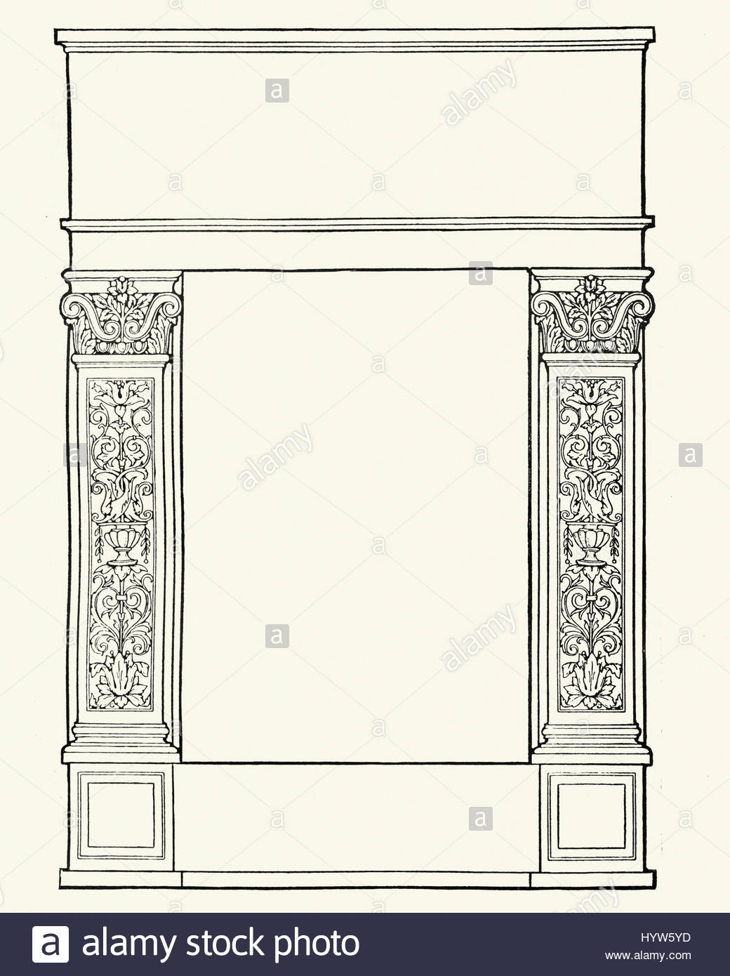 1040x1390 Ornate Blank Border Title Page Stock Photo 137621777