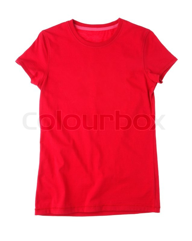 637x800 Red Blank T Shirt For Drawing Picture, Printing Wording Or Photo
