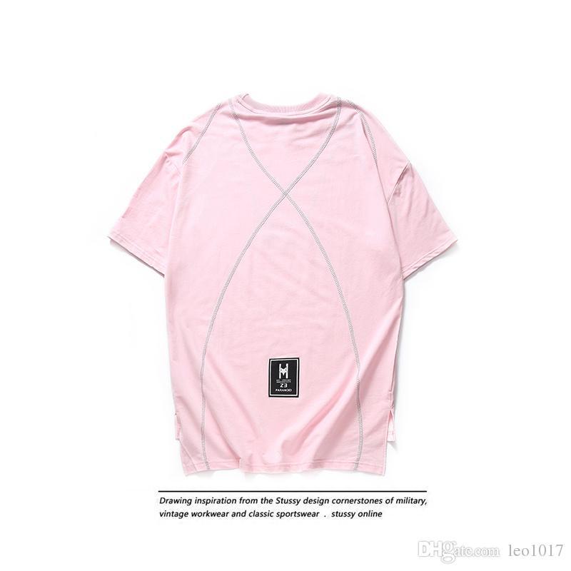 800x800 Side Split Front Short Back Long Hip Hop T Shirt Men 2017 Summer