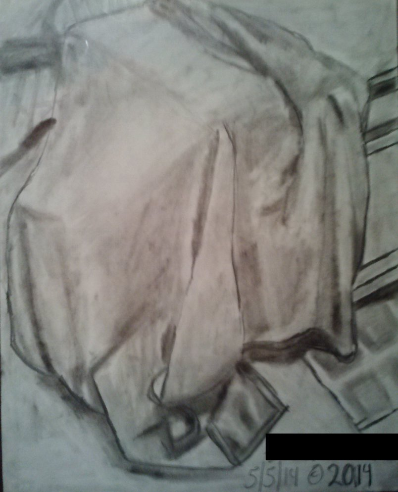 804x994 Drapery Still Life Drawing Of Blanket By Masterpeace23