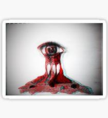 210x230 Bleeding Eyes Drawing Stickers Redbubble