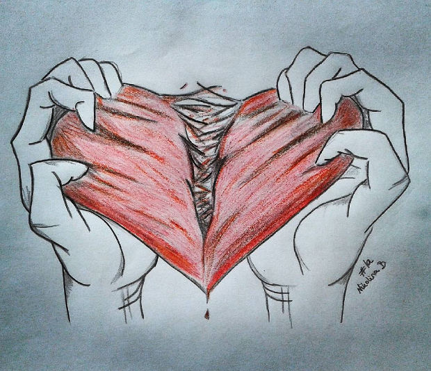 Bleeding Heart Drawing at GetDrawings.com | Free for personal use ...