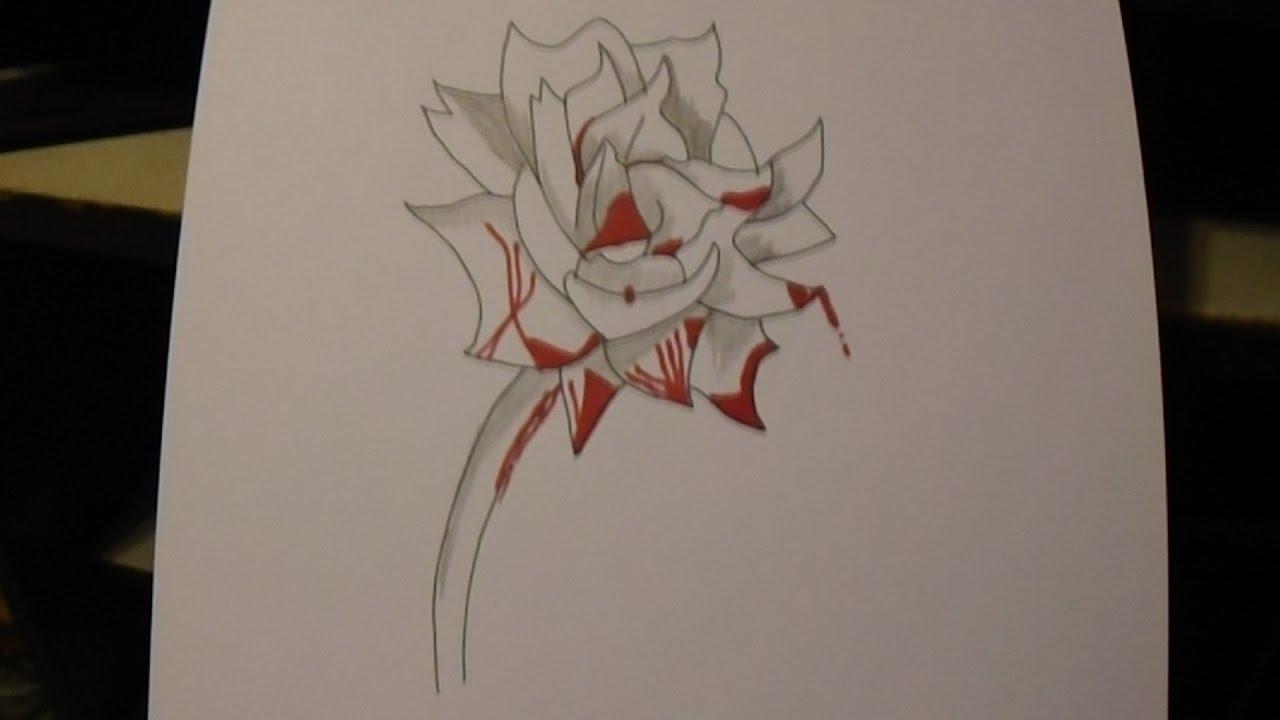 1280x720 Bleeding Rose Speed Drawing