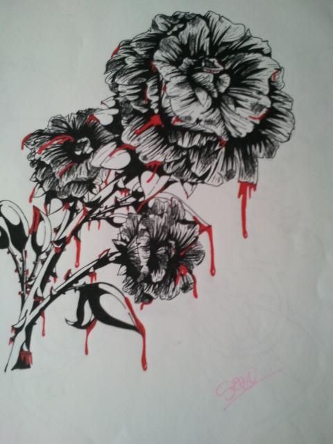 480x640 Bleeding Rose By Hutchymewmew
