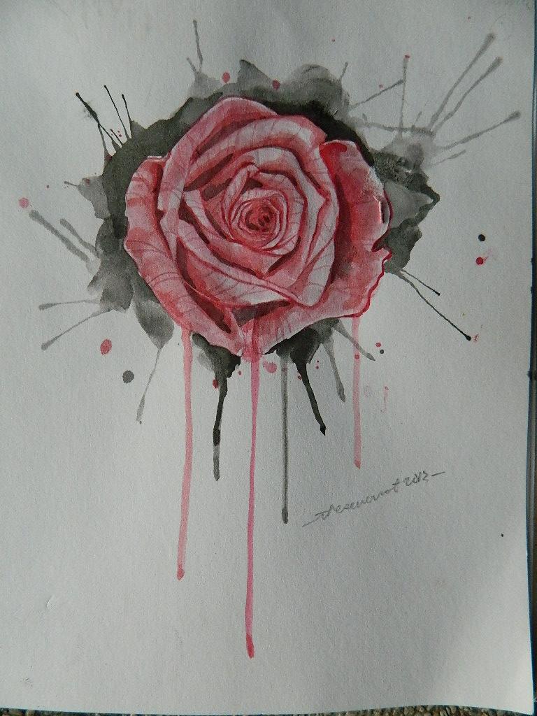 768x1024 Bleeding Rose By Malignantselflove