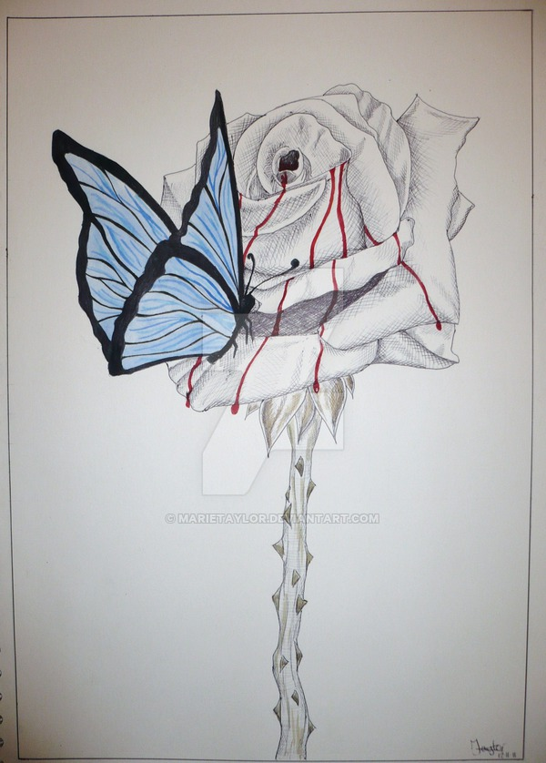 600x838 Bleeding Rose By Marietaylor