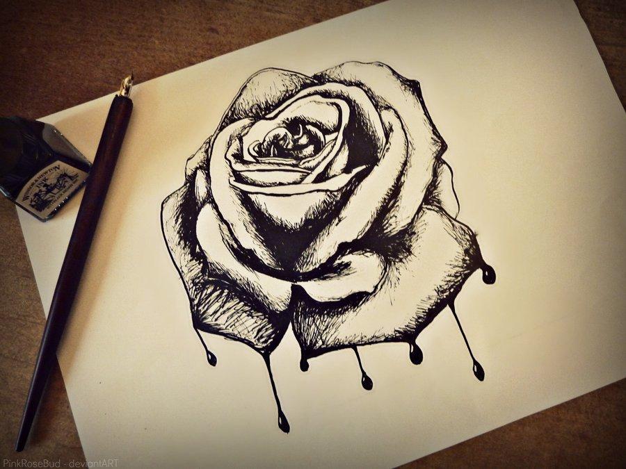 900x675 Bleeding Rose By Pinkrosebud