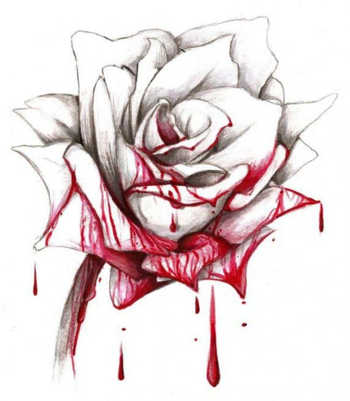 720x824 Bleeding Rose Tats Bleeding Rose, Rose And Tattoo