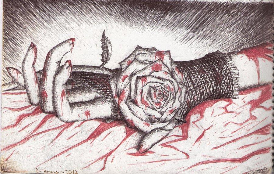 900x570 Bloody Rose By Dragonatodd