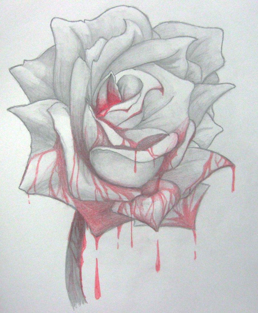 900x1091 Bloody Rose By Yureilia