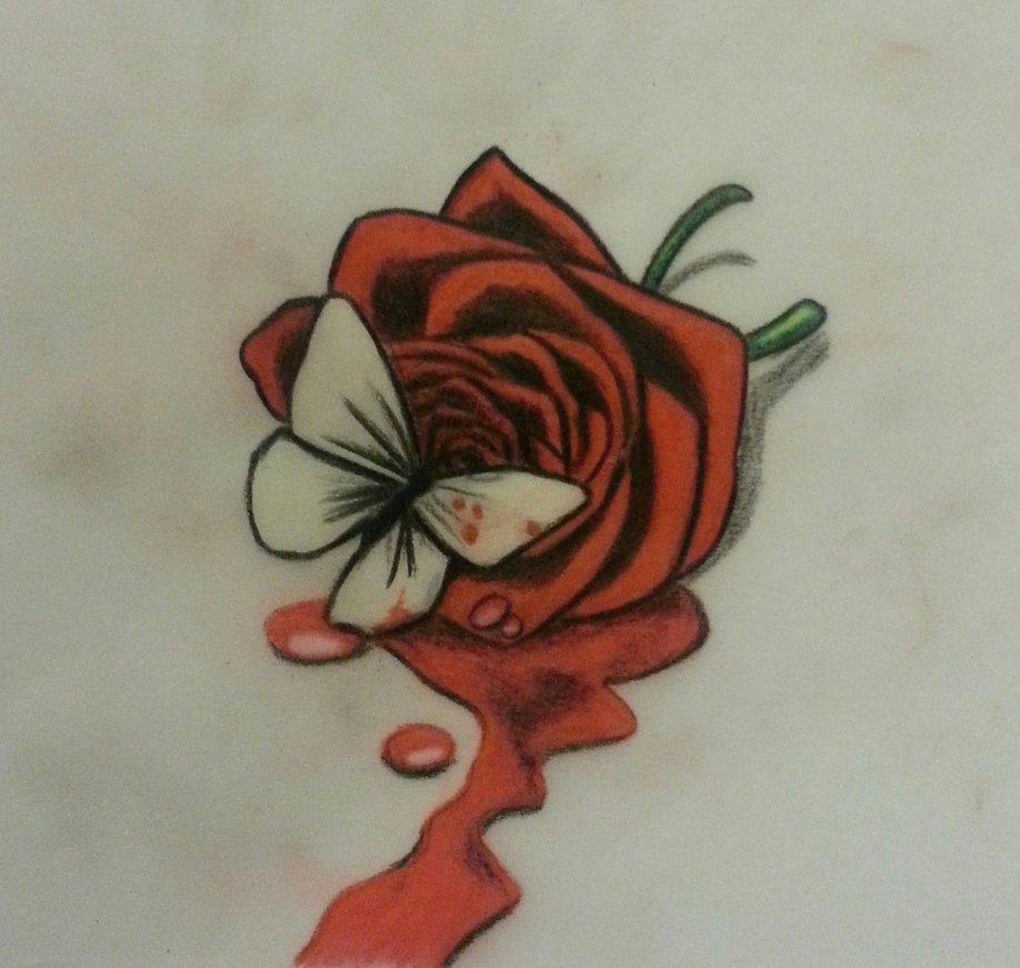 918x871 Bleeding Rose By Tattman79