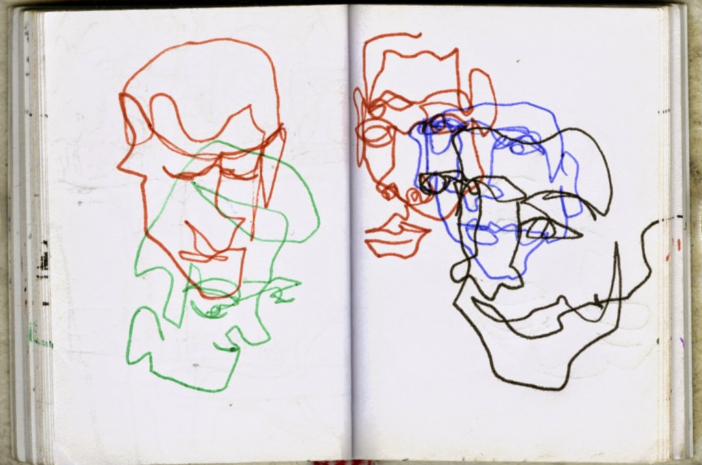 1024x679 Blind Contour Drawings