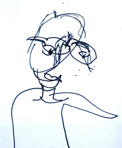 425x516 Blind Contour Drawing Craftwhack