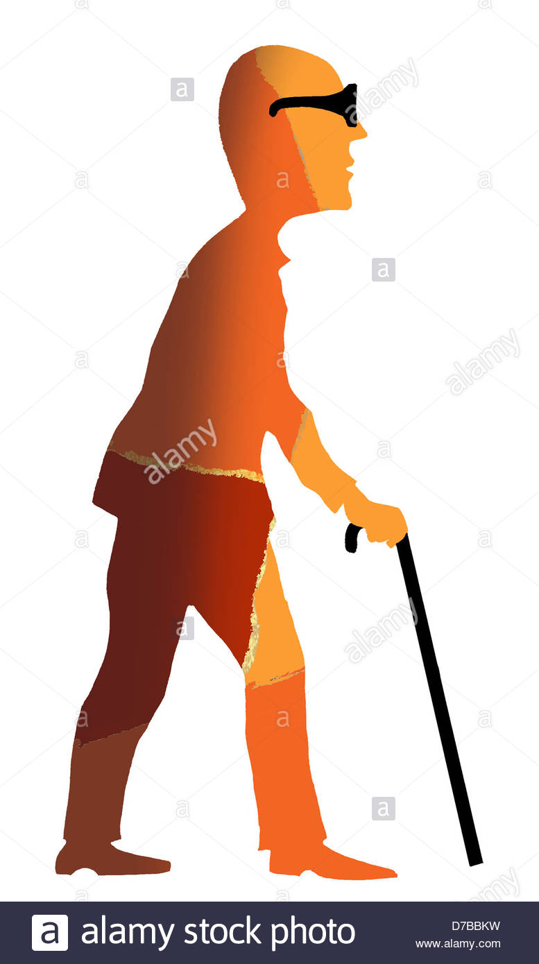777x1390 Blind Person, Drawing Stock Photo 56184349