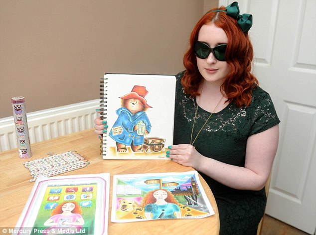 634x471 Blind Student Kimberly Burrows Named Young Illustrator Of The Year