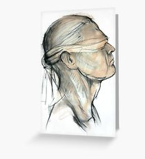 210x230 Blindfold Drawing Greeting Cards Redbubble