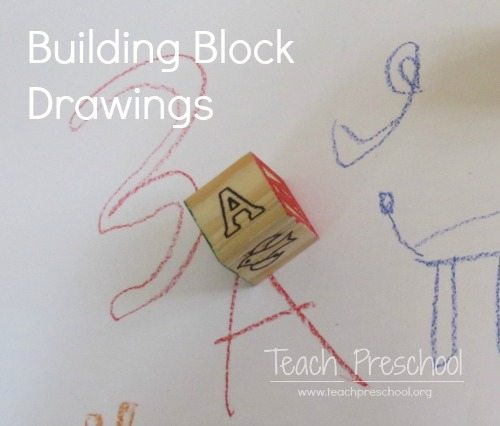 500x426 Building Block Drawing Game In Preschool Teach Preschool