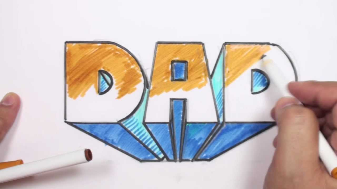1280x720 How To Draw 3d Block Letters