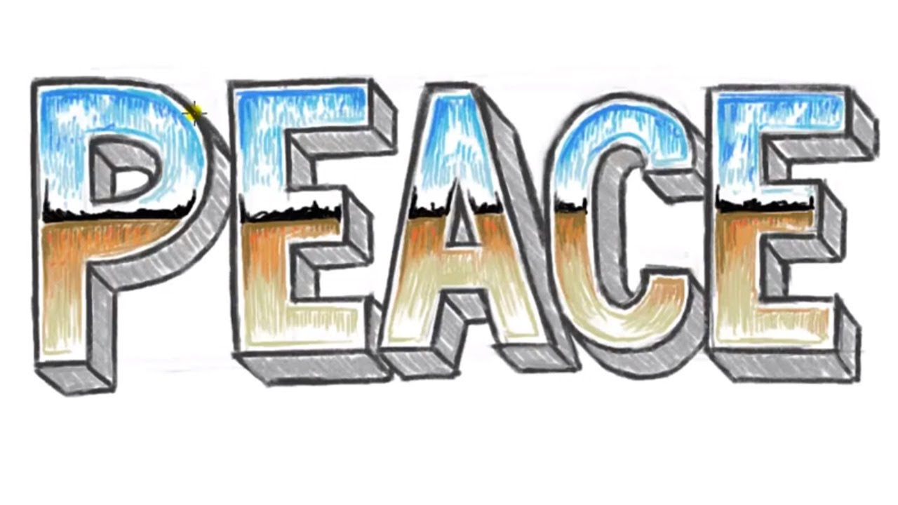 1280x720 How To Draw Peace 3d