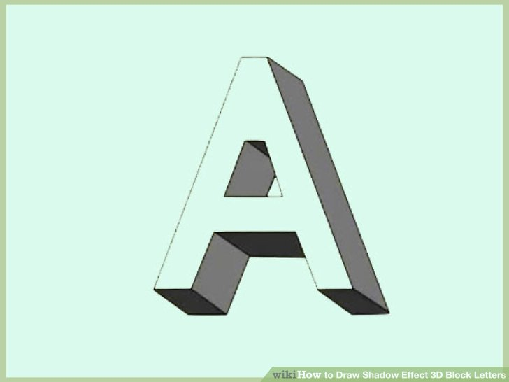 728x546 How To Draw Shadow Effect 3d Block Letters (With Examples)