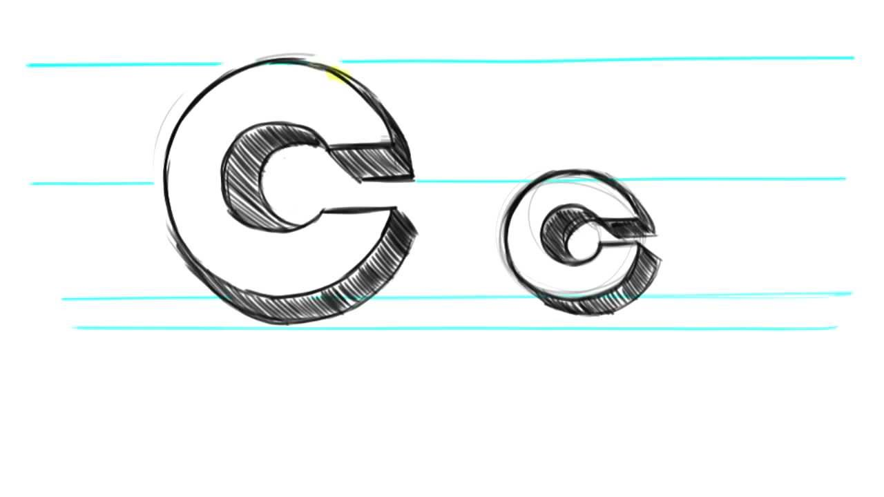 1280x720 How To Draw 3d Letters C