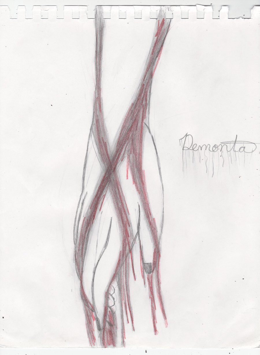 900x1230 Hand Dripping Blood By Demontadark