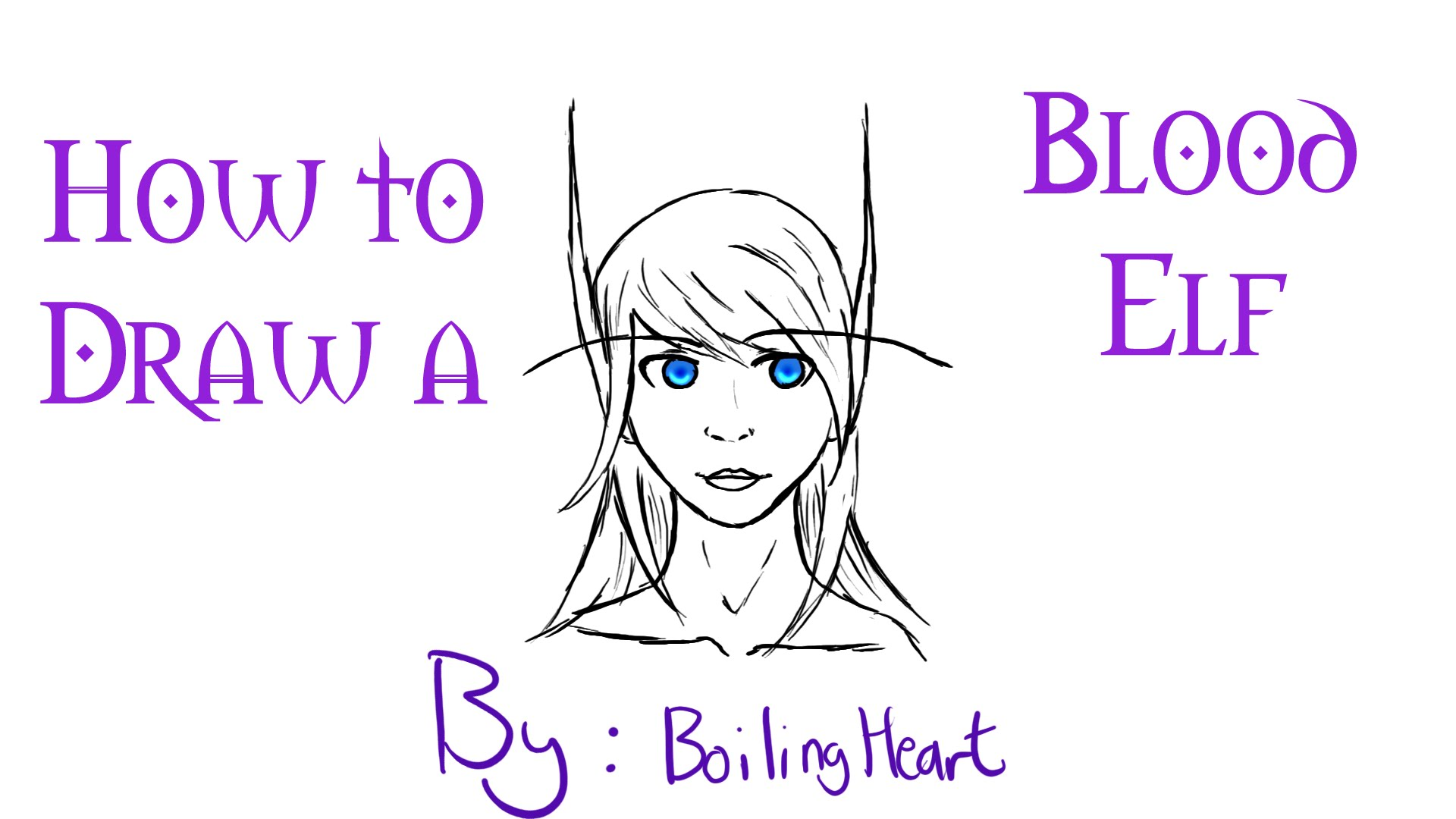 1920x1080 How To Draw A Blood Elf From Wow