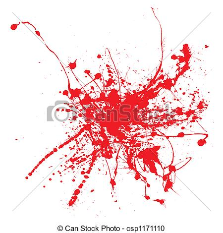 450x470 Blood Ink. Blood Splatter On A White Background Isolated Stock