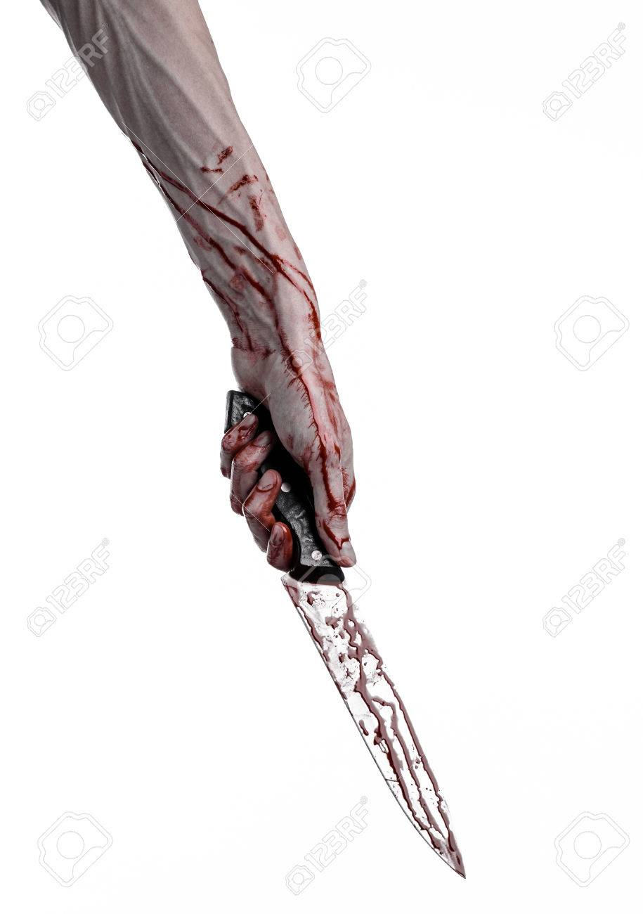 915x1300 Bloody Hand Holding A Knife, A Large Bloody Knife, Bloody Theme