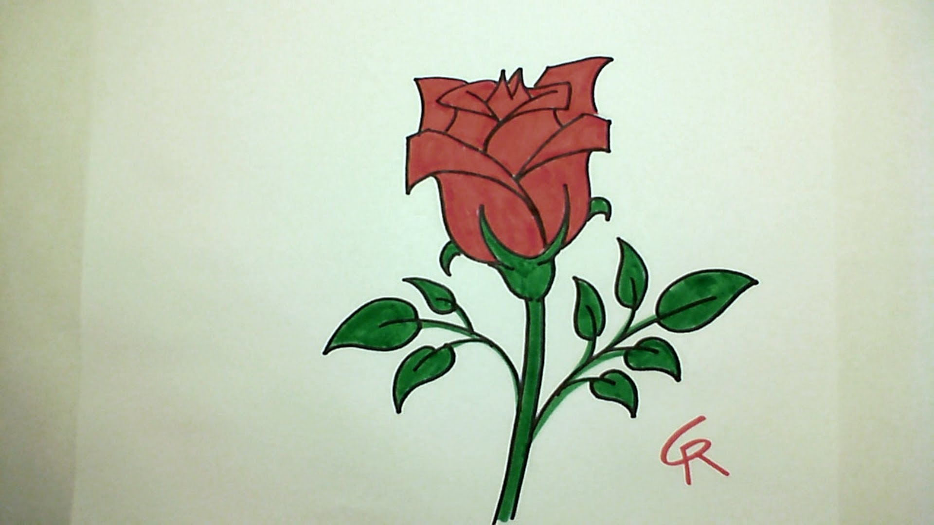 1920x1080 Learn How To Draw Pretty Rose In Bloom