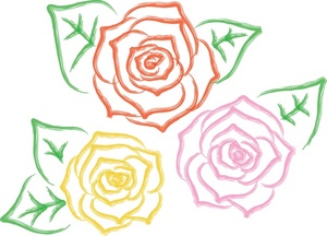300x216 Roses Clipart Image