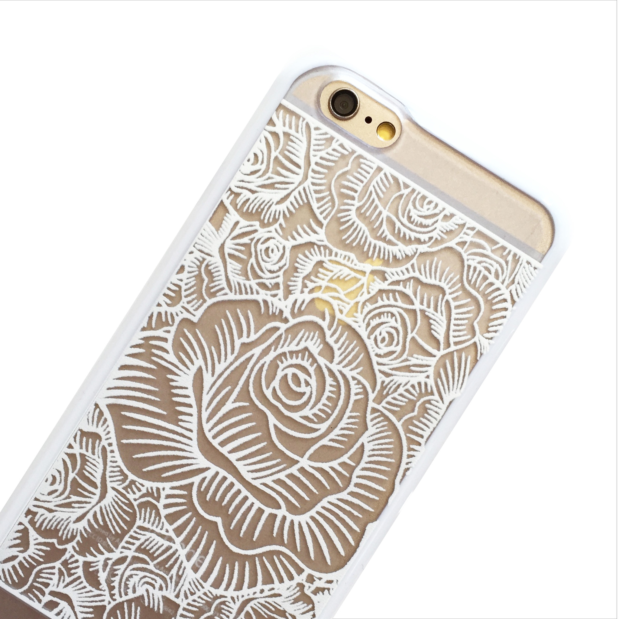 2048x2048 White Blooming Roses Iphone Case