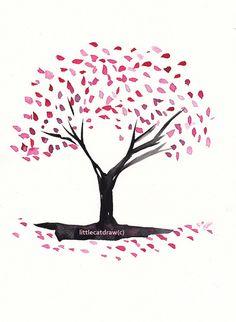 236x322 Cherry Blossom Tree Drawing Easy Drawing Blossom